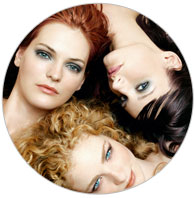 3 girls laid in a circle